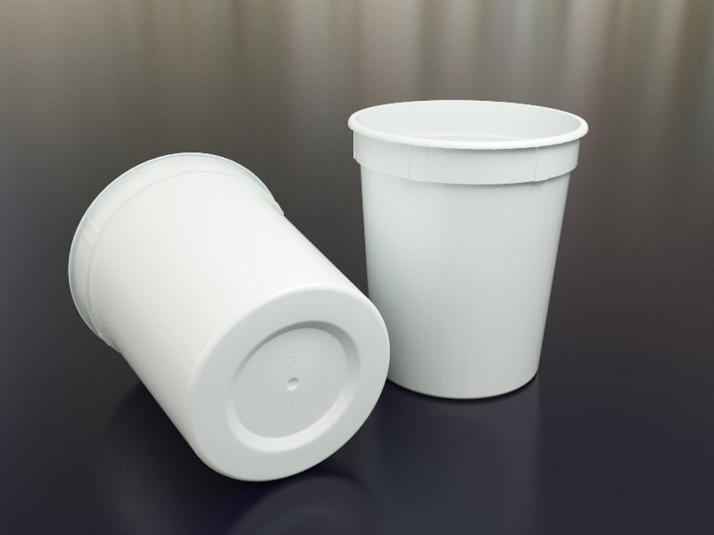 Vaso de un litro uso alimenticio